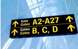 Flughafenzeichen Stockbild