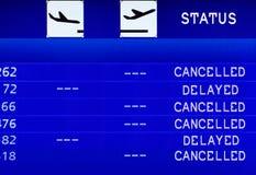 Fluginformationsvorstand. Lizenzfreie Stockbilder
