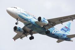 Fluglinien Airbusses A319 Russland Stockbilder
