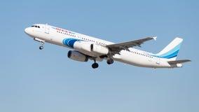 Fluglinien Airbusses A321-231 Yamal Stockbilder