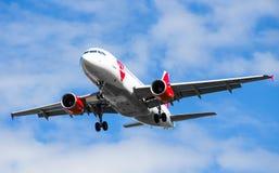 Fluglinien Kontrolle CSA Airbusses a319, Flughafen Pulkovo, Russland St Petersburg im Juli 2015 Lizenzfreie Stockfotografie