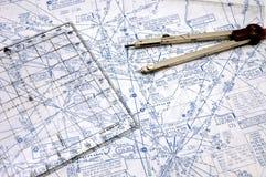 Fluglinien-Navigation Stockbild