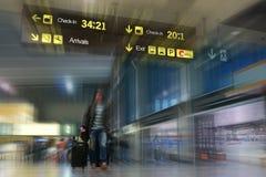 Fluglinien-Passagier stockfoto