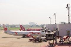 Fluglinien wartet sich entfernen Lizenzfreie Stockfotografie