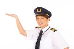 Fluglinienpilot lizenzfreies stockbild
