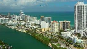 Flugreise-Miami Beach FL stock footage