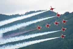 Flugschau der Luftmacht 2011 in Zeltweg, Österreich Lizenzfreie Stockfotografie
