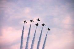 Flugschau des Kampfflugzeugs F16 Stockfoto