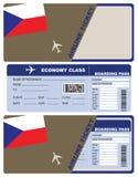 Flugschein in der Tschechischen Republik stockfotos