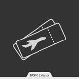 Flugscheinikone für Netz und Mobile Lizenzfreie Stockfotografie