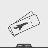Flugscheinikone für Netz und Mobile Stockfoto