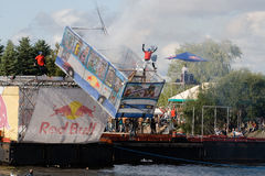 Flugtag competition in Riga Stock Photography