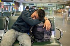 Flugverspätung ist der schlechteste Albtraum von jeder Lizenzfreie Stockbilder