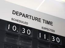 Flugverzögerung Lizenzfreie Stockfotos