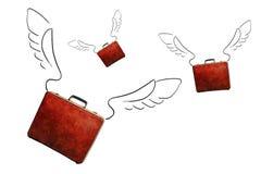 Flugwesen-Aktenkoffer Stockbild