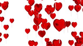 Flugwesen Hinauftreiben von Aktienkursen in der Form eines Inneren Romantischer Hintergrund für Valentinsgruß ` s Tag Wiedergabe  lizenzfreie abbildung