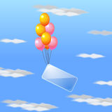 Flugwesenballone mit Platz für Text Lizenzfreies Stockbild