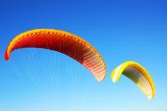 Flugwesenfallschirme Stockfotografie