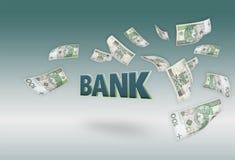 Flugwesengelder 100 PLN Rechnungen Lizenzfreies Stockfoto