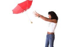 Flugwesenregenschirm stockfotos