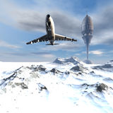 Flugwesenverkehrsflugzeug Lizenzfreies Stockbild