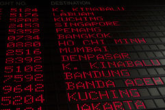 Flugzeitplan Stockfoto