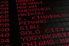Flugzeitplan Lizenzfreie Stockfotos