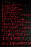 Flugzeitplan Stockbilder