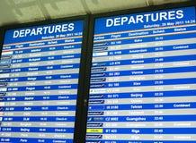 Flugzeitplan Stockfotos