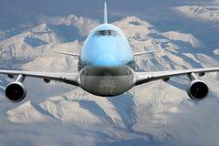 Flugzeug über Alaska Lizenzfreies Stockbild