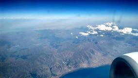 Flugzeug über dem Sevan See in Armenien Lizenzfreies Stockbild