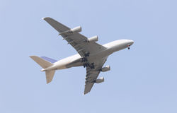 Flugzeug A380 Stockbild