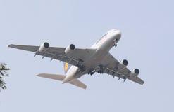 Flugzeug A380 Stockfoto