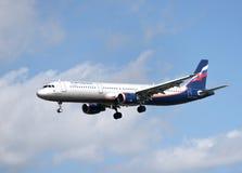 Flugzeug a321 Lizenzfreie Stockfotografie