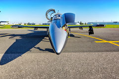Flugzeug Aero L-39 Albatros von Breitling Jet Team Stockfoto