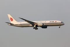Flugzeug Air Chinas Boeing 787-9 Dreamliner Peking-Flughafen Lizenzfreie Stockfotografie