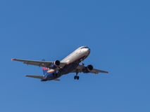 Flugzeug Airbus A320, I Kruzenshtern Lizenzfreie Stockfotografie