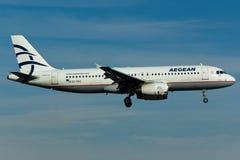Flugzeug Airbusses A320 Lizenzfreies Stockfoto