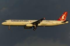 Flugzeug Airbusses A321 Stockfotografie