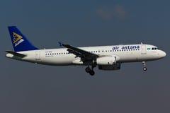 Flugzeug Airbusses A320 Stockfotos