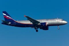 Flugzeug Airbusses A320 Lizenzfreie Stockbilder