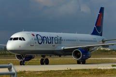 Flugzeug Airbusses A320 Stockfoto