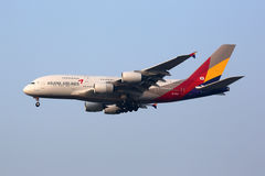 Flugzeug Asiana Airliness Airbus A380 International Seouls Incheon Stockfotos