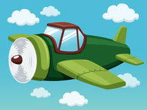 Flugzeug auf Himmel vektor abbildung