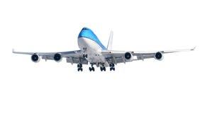 Flugzeug auf Weiß Stockbild