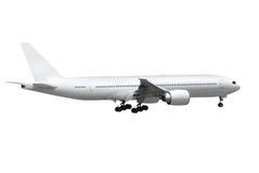 Flugzeug auf weißem Hintergrund Stockfotografie