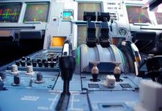 Flugzeug-Bedienpult lizenzfreie stockfotos