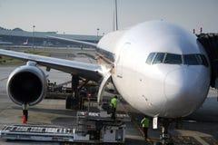 Flugzeug bei dem Transport Lizenzfreies Stockfoto