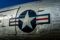 Flugzeug in Berlin Tempelhof Stockfotografie