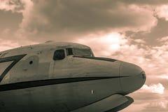 Flugzeug in Berlin Tempelhof Stockfoto